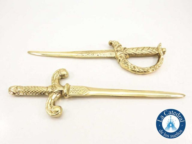 Producto #2521       BRONCE PUÑAL/ SABLE MEDIANO 19 CM