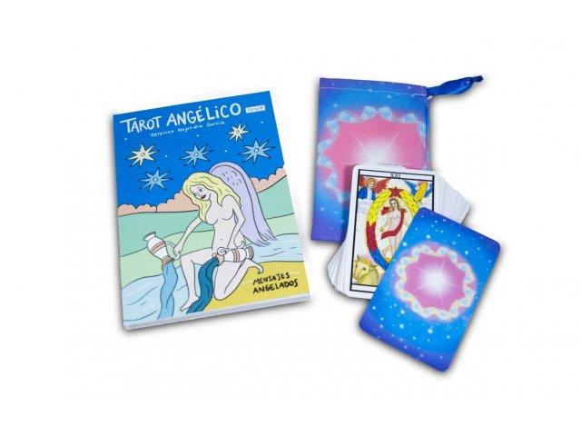 Producto #2055       LIBRO TAROT ANGELICO (LIBRO   CARTAS   BOLSITA)