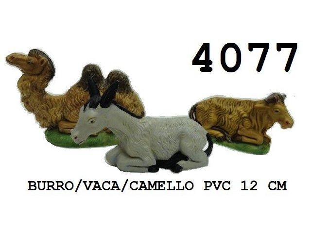 Producto #4077 PVC 12 CM BURRO/VACA/CAMELLO C/U