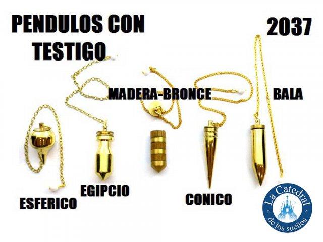 Producto #2037       PENDULO BRONCE C/TESTIGO (VS MODELOS)