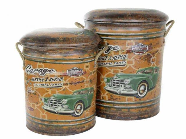 Producto #705A SET DE 2 BANCOS GUARDA OBJETOS GR.