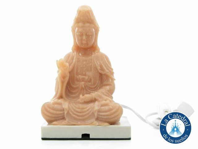 Producto #2584 LAMPARA SAL RESINA KWAN YIN 20 CM