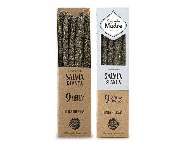Producto #9300D      SAHUMERIO SALVIA BLANCA SAGRADA MADRE