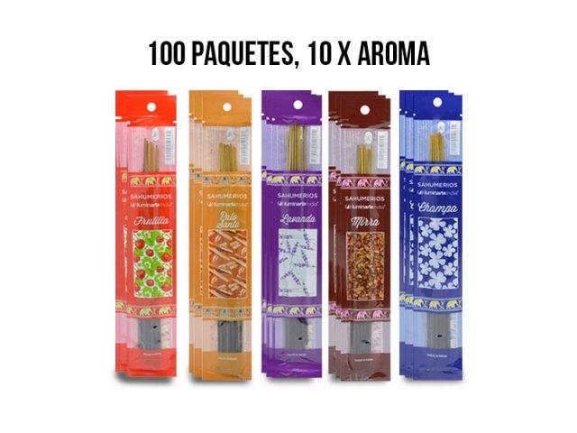 Producto #963GB SAHUMERIO POUCH X 100 PAQUETES (10 C/AROMA)