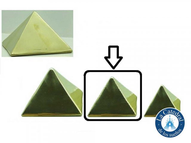Producto #2510 BRONCE PIRAMIDE MEDIANA 6X6 CM