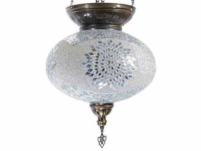 Producto #938B LAMPARA OVAL COLG. 3 CAD. 35 CM