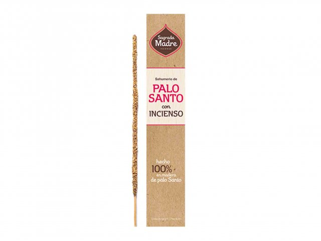Producto #9100C      SAHUMERIO SAGRADA MADRE PALO SANTO CON INCIENSO