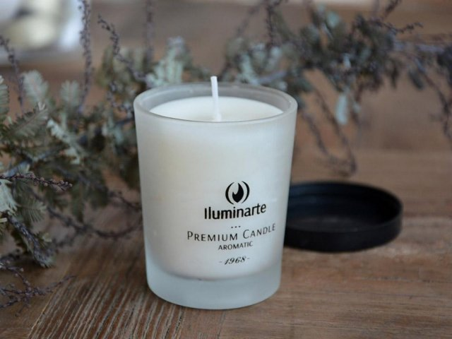 Producto #075 AROMATIC CANDLE (GLASS) 7 X 5.7 CM (HASTA AGOSTAR STOCK)